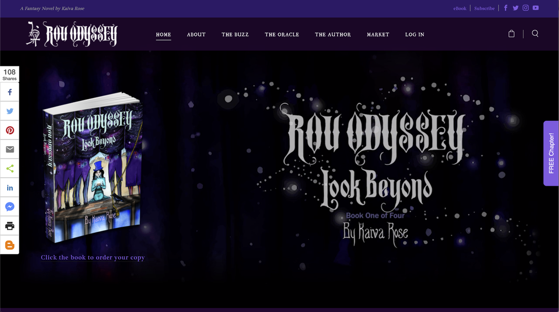 Rou Odyssey, fantasy novel, empowering book, youth reading, Kaiva Rose, motivational book, magical story, New Website